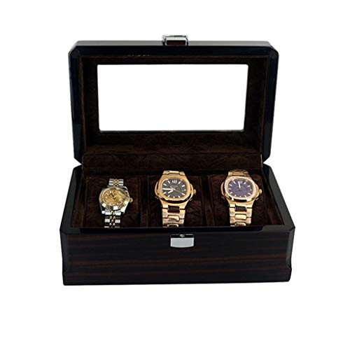 ZHUSHI 3 Slots Wooden Watch Box Watch Titular Box Watch Box Cuadro Pulsera Reloj Boxes Reloj De Madera Caja De Almacenamiento