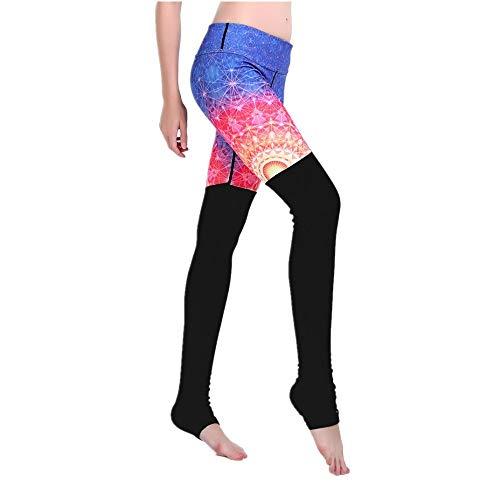 DSCX Pantaloni da Ballo perDonna Pantaloni da Ballo per Yoga Sottili aFasciaSottile per Lo Sport all'aperto Stretch Blu XL