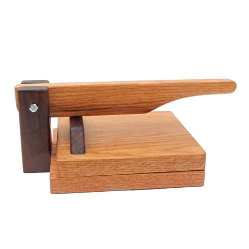 Hardwood Tortilla Press - Red Oak- 8 inch
