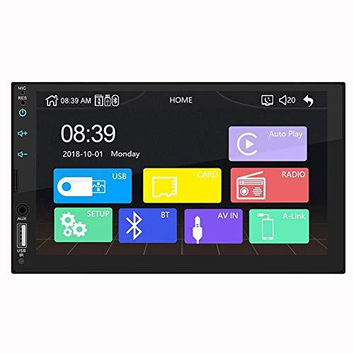 QLPP Compatibilidad con 2 DIN Auto Auto Estéreo Apple Carplay, Reproductor MP5 con cámara táctil de 7 Pulgadas, Radio, Control del Volante y cámara Bluetooth