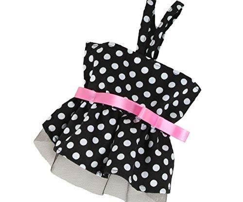 Kleid Mit Punkten (Lager-Clearance) - Schwarz-Xl, Kleider, Klamotten Für Kleine Rassen, Handmaded In Europa