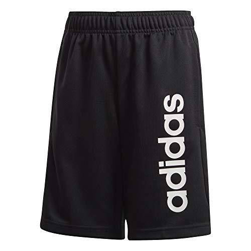 adidas Jungen YB TR LIN KN SH Sport Shorts, Black/White, 1314Y
