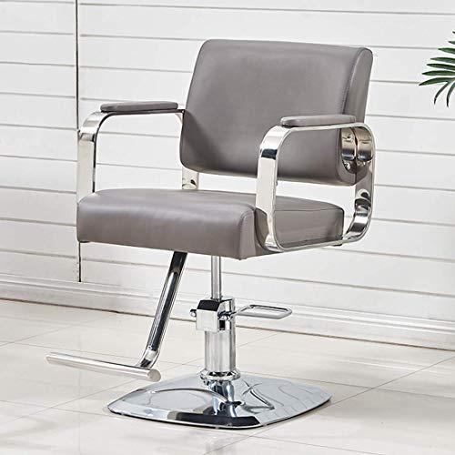 Z-Color Professonal Hidráulico Silla giratoria de peluquería de 360 Grados Salon Beauty Hair Styling Chair (Color Blanco) (Color : Gray)