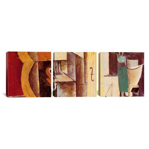 iCanvasART 329PAN Kunstdruck auf Leinwand, Motiv Violine und Gitarre von Pablo Picasso, 3-teilig, 152,4 x 50,8 cm, 3,8 cm
