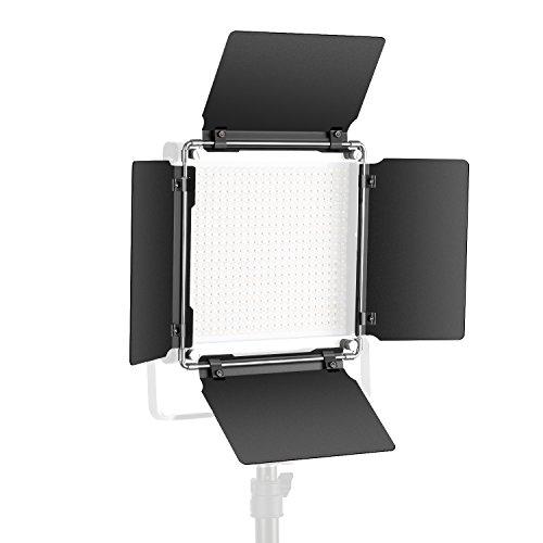 Neewer Coupe-Flux Barndoor pour 480 LED Lumière Vidéo, Construction Métallique Solide (Coupe-Flux Seul)