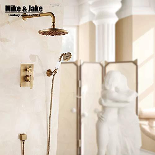Bathroom wall concealed antique shower faucet mixer black ORB bathroom shower kit bath mixer set shower two function shower set,Clear