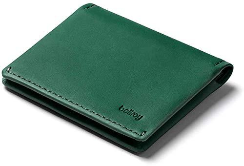 Bellroy Slim Sleeve – kleine, dünne Lederbörse (max. 12 Karten Plus Scheine) - Racing Green