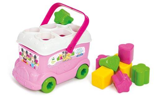 Clementoni 14933.9 - Baby Minnie Sortierbus mit 9 bunten Formen
