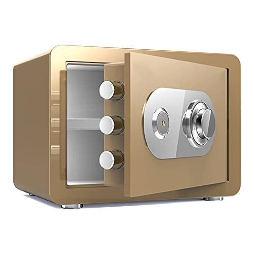 VIY Caja Fuerte Impermeable a Prueba de Fuego con combinación de dial, Cajas Fuertes de Fuego,Oro