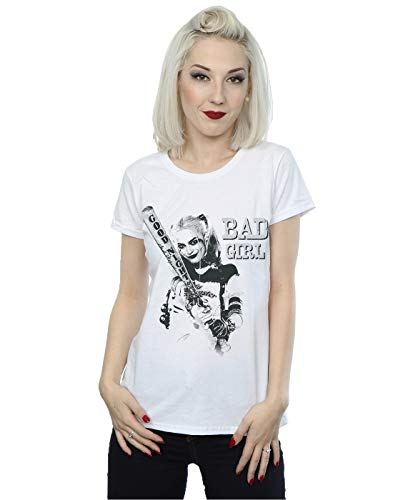 Suicide Squad mujer Harley Quinn Bad Girl Camiseta XX-Large Blanco