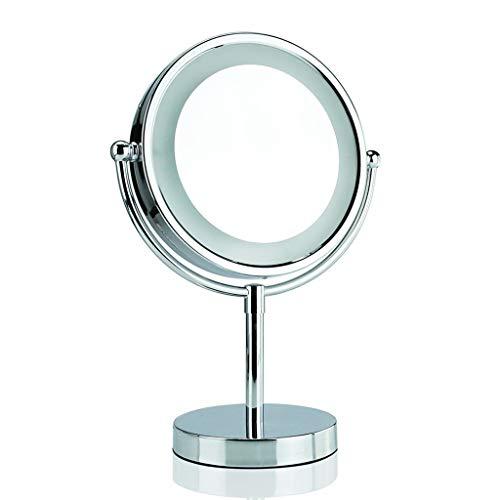 XIUXIU Miroir Miroir de Maquillage Double Face Portable Miroir de Maquillage réglable à économie d'énergie LED (Color : 5 Times)