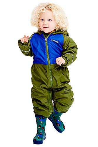 Regatta Kids Mudplay III Waterproof And Breathable Insulated Animal All In One Suit CypressSurf Spray Size 18 24