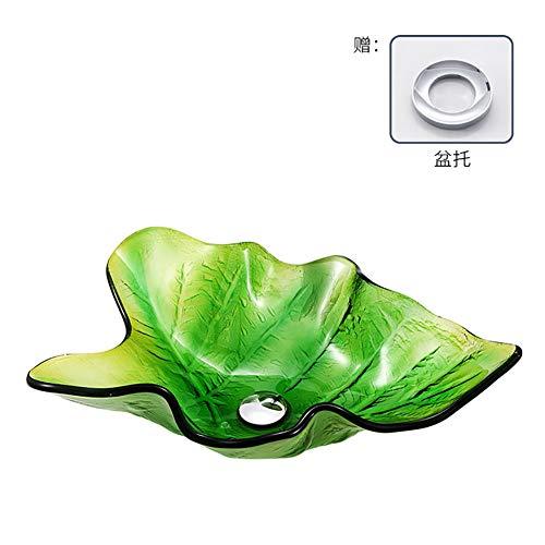EDAHBJNEST5MK Ausgeglichenes Glasbadezimmerwaschbeckenkunstbadezimmerheißschmelz-Kamm-Muscheln über Gegenbassin (6)