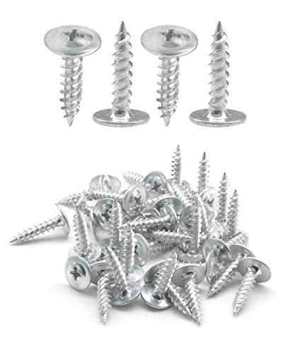 IMScrews 50pcs #8 x 3/4' Truss Head Screws Standard Thread Self Tapping Screws Wood Work MDF Zinc