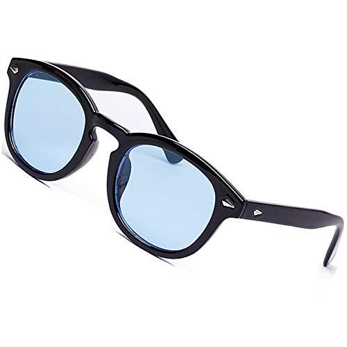 TR90 Vintage UV400 Occhiali da sole colorati retrò moda donna Tony stark occhiali da sole rotondi Blu