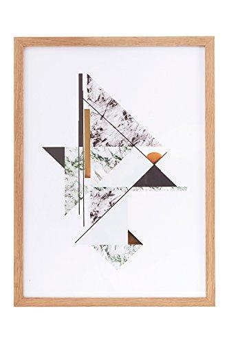 House Doctor Illustration, Abstract Marble, grå/grøn, 44x31,7 cm, egetræsramme mme [P]