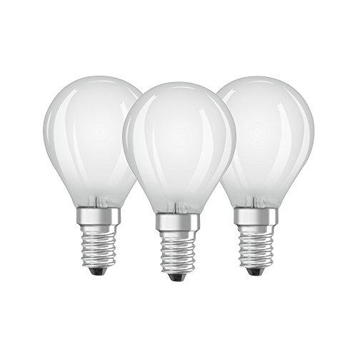 Osram BASE CLAS P Lampada LED E14, 4.5 W, Luce calda, 3 Lamp