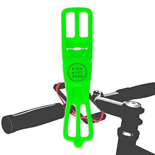 Bike Citizens Finn - Die universelle Smartphone Halterung für jedes Fahrrad und jedes Handy! Mit Fahrrad Navigation - Handy Halter für das Fahrrad, MTB oder Rennrad (Grün)