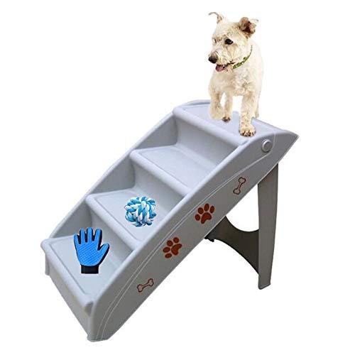 ZYQ rutschfeste 4-Stufen-Klappleiter für Haustiere, die für kleine Katzen, Hunde und Katzen verwendet Wird, um nach Hause zu gehen und universelle Stufen zu Fahren (Color : Gray)