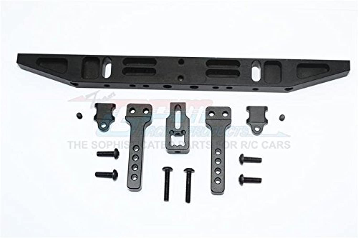 Traxxas TRX-4 Trail Defender Crawler Upgrade Parts Aluminium Rear Bumper With D-Rings (Classic) - 1 Set Black