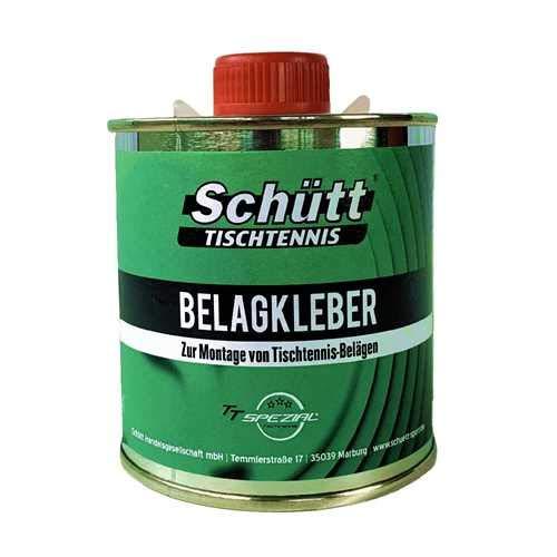 Schütt Tischtennis Belagkleber Pinseldose (250 ml) - Kleber für Tischtennisbeläge/Lösungsmittelhaltig/TT-Spezial Tischtennis