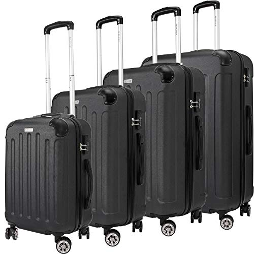KESSER® 4tlg. Hartschalenkofferset Hard Shell Basic Hartschalenkoffer Trolley Koffer Reisekoffer Reisekofferset Gepäck...
