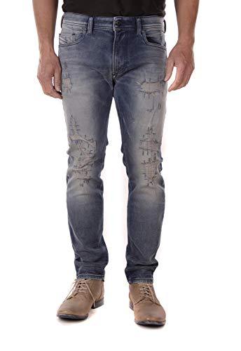 Diesel Thavar-XP R4DG8 Herren Jeans Hose Slim Skinny (36W / 30L, Blau)