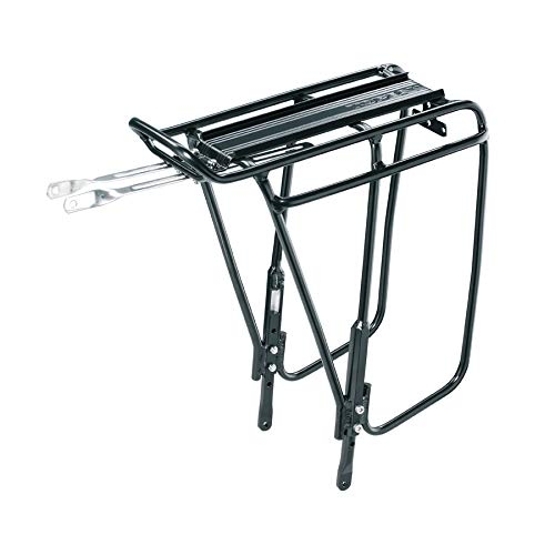 Topeak Unisex Adult Super Tourist DX Disc Luggage Carrier, Black, One Size