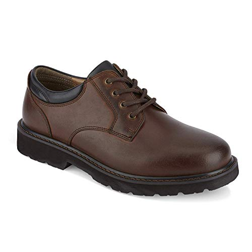 Dockers Mens Shelter Leather Rugged Casual Oxford Shoe - Wide Widths Available, Red Brown, 9.5 M