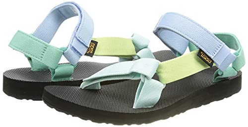 Teva Women's Original Sandals with Universal Strapping System and EVA Footbed, Light Green Multi, 5