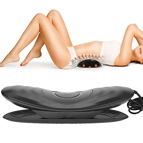 Duevin Rücken und Taillenmassagegerät, Elektrisches Rückenmassagegerät Heiß Kompression Vibration Luftzugkraft Tiefes Gewebe, das die Taillenmüdigkeit zu Hause im Auto und im Büro Lindert(EU Plug)