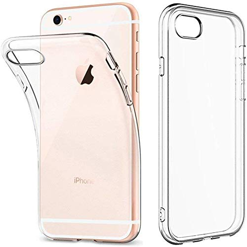 Amonke Coque iPhone 6s Plus/iPhone 6 Plus Transparente, Ultra Mince Étui De Protection Absorption De Choc, Ultra Clair TPU Silicone Transparent Souple Housse Etui Coque pour iPhone 6/6s Plus