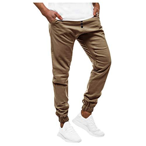 Panty's, joggingbroek, brede broek, broek voor heren, vrije tijd, fitness, bodybuilding, pocket, huid, volledig lichaamszicht, sportbroek XX-Large kaki