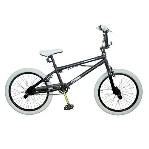 Muddyfox Kids Lithium BMX Bike Black/Brown 20 Inch