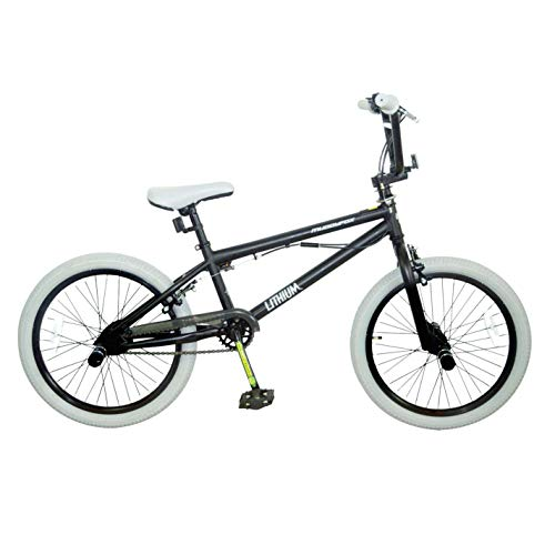 Muddyfox Kids Lithium BMX Bike Black/Brown 20 Inch