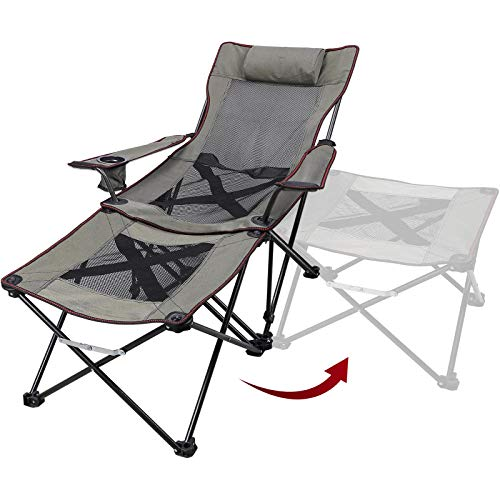 luxury 2 in 1 reclining camping chairs