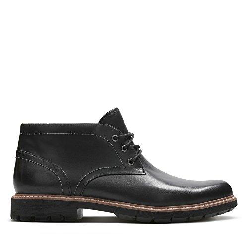Clarks Herren Batcombe Lo Chelsea Boots, Schwarz (Black Leather), 43 EU