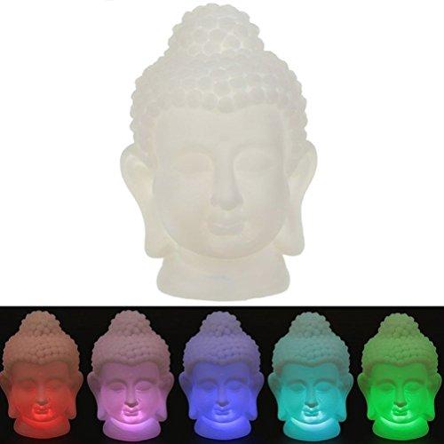 Buddha LED farbwechselnde Lampe 17 cm