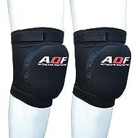 AQF Rodilleras Protectores con Almohadillas de Espuma Envolturas Protectoras con Escudo elástico (Negro, XL)