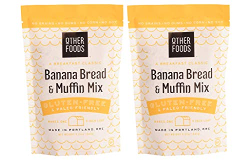 Other Foods Gluten Free Banana Bread and Muffin Baking Mix Paleo Friendly - Easy to Bake, 100% Grain Free, Dairy Free, Corn Free, No Refined Sugar or Soy (Banana, 2 pack)