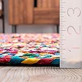 nuLOOM Tammara Handgeflochten Teppich, Baumwolle, Bunt, 90 cm x 150 cm oval - 4