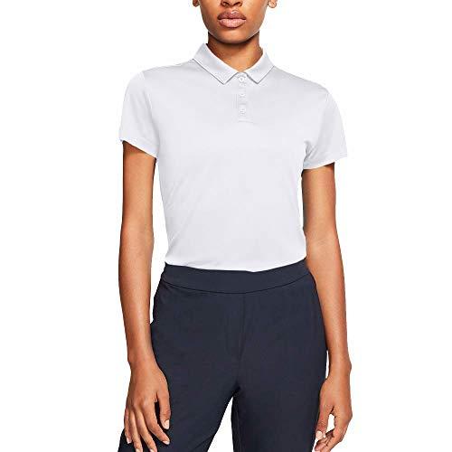 NIKE Women s Dry Short Sleeve Golf Polo  White/Flat Silver  Medium