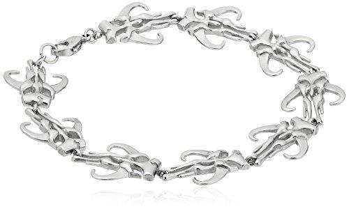 Star Wars Jewelry - Pulsera de acero inoxidable con símbolo de mandaloriano para hombre, 20 cm