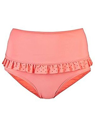 adidas Stella McCartney X X35870 Ruffle Bikini High Waist Bottom, Coral, Xs