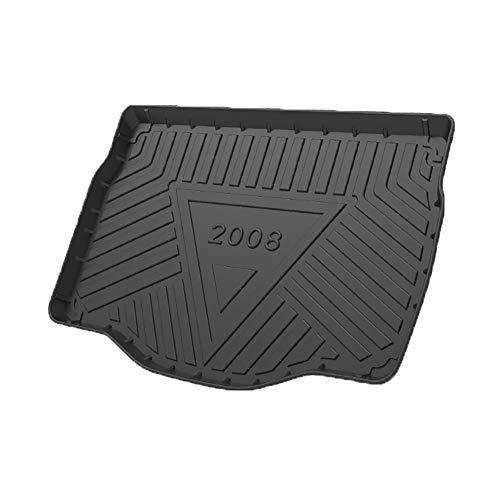 KYLN Coche Alfombrillas Maletero, para Peugeot 2008 2014-2019 Alfombrillas Goma Maletero Anti Sucio Interior