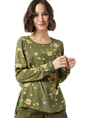 Only Onlclaire Blusa, Verde (Kalamataempowered Flower), Small (Talla del Fabricante: 36) para Mujer