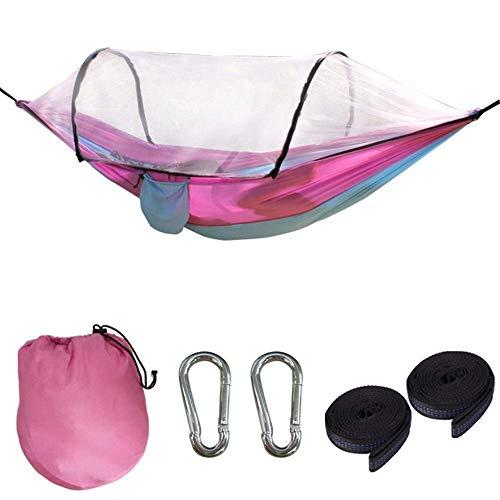Camping hangmat Hangmat camping hangmat Lichtgewicht Hangmat Tent Met Klamboe Double Sleeping hangmatten for Outdoor Hiking reizen camping hangmat (Kleur: Donker groen fruit groen, Grootte: 260x140cm)