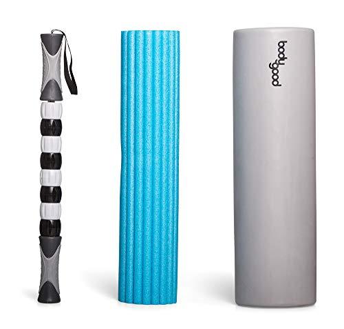 BodyGood Massage Roller Set 3 in 1 Massage Roller ideal für Faszientraining, Muskel- und Rückenübungen und tiefen Massage