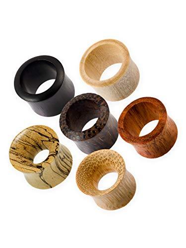 Fly Style Flesh Tunnel Ohrplug - Piercing-Schmuck aus Holz, Grösse:12 mm, Materialwahl:Arang Ebenholz