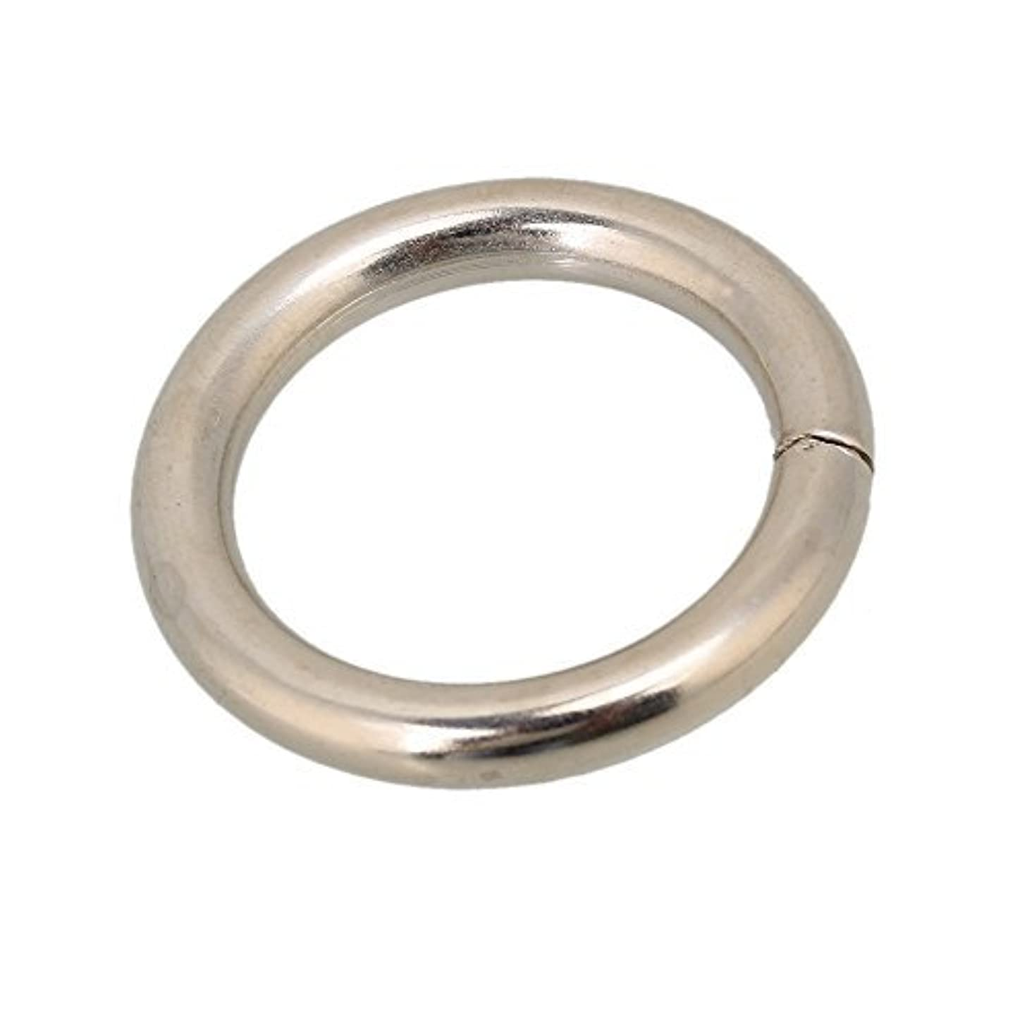 Indian Accent 1 Inch Silver Color O-Ring for Webbing Strapping Flat Cords Belting Leather Craft (Pack of 25)